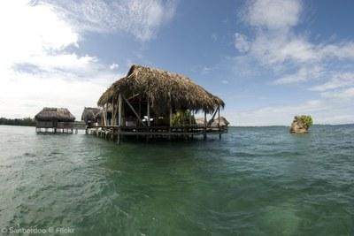 Case sul mare a Bocas del Toro
